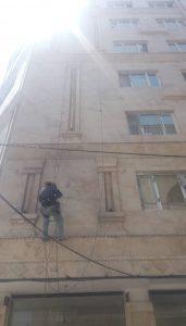 کار در ارتفاع با طناب